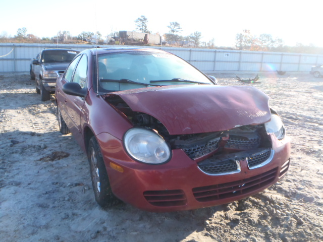 Salvage 2004 DODGE NEON - Small image. Lot 14511273