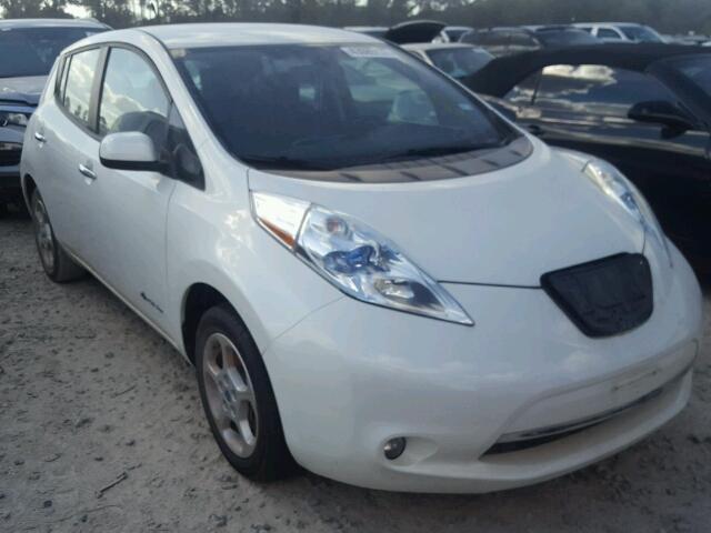 2013 Nissan Leaf Hatchbac U White Houston Tx 43085137
