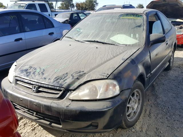 Vin 1HGEJ7125YL070259 2000 HONDA CIVIC HX   Right Front View Lot 45830218.