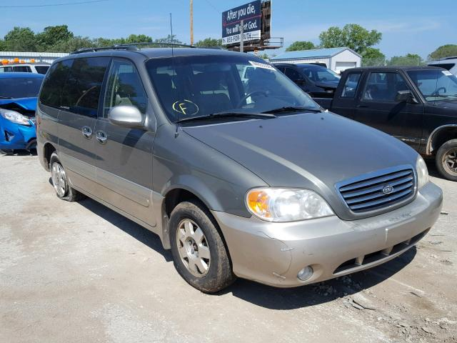 2003 KIA SEDONA EX   Left Front View Lot 44033338.