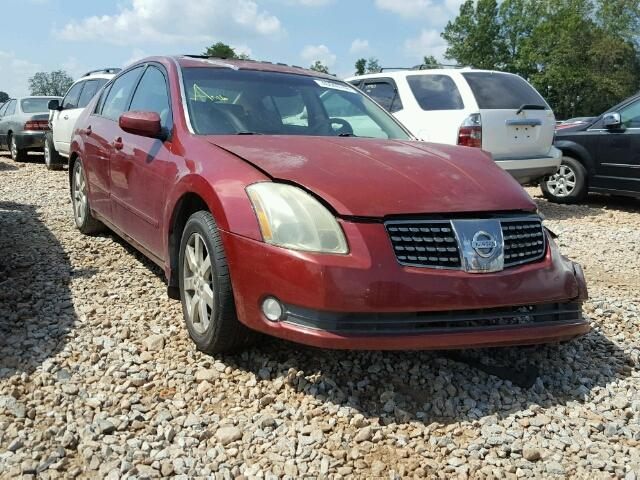 Salvage Certificate 2004 Nissan Maxima Sedan 4d 35l 6 For Sale In