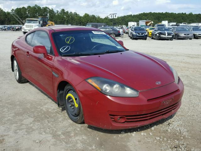 2007 HYUNDAI TIBURON GT   Left Front View Lot 47445668.