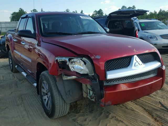 Salvage Title 2007 Mitsubishi Raider Ls Crew Pic 37l 6 For Sale In