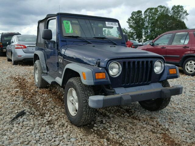 2004 JEEP WRANGLER X   Left Front View Lot 47346398.